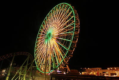 Photograph - Ocean City Ferris Wheel3 by George Miller