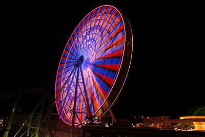 Photograph - Ocean City Ferris Wheel4 by George Miller
