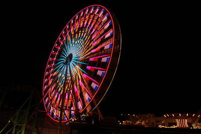 Photograph - Ocean City Ferris Wheel6 by George Miller