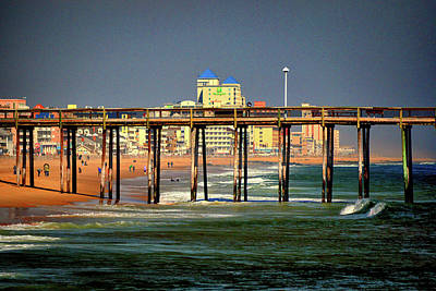 Photograph - Ocean City Fishing Pier In January by Bill Swartwout