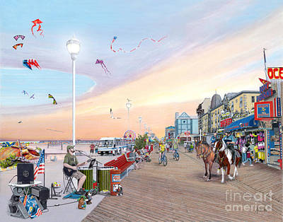 Painting - Ocean City Maryland by Albert Puskaric