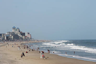 Landscapes Royalty-Free and Rights-Managed Images - Ocean City Maryland Beach by Robert Banach