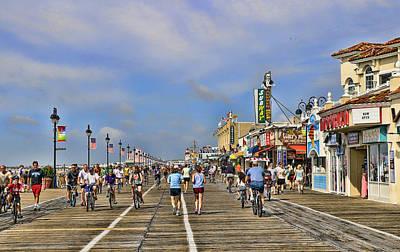 Photograph - Ocean City N J Boardwalk by Allen Beatty