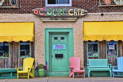 Photograph - Ocean City N J Surf Cafe by Allen Beatty
