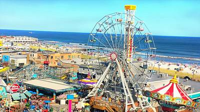 Photograph - Ocean City New Jersey Wonder Wheel Boardwalk by Beth Ferris Sale