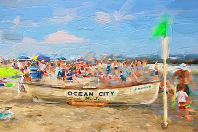 Photograph - Ocean City Rescue Boat 2 by Allen Beatty