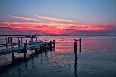Photograph - Ocean City Summer Sunset by Kristia Adams