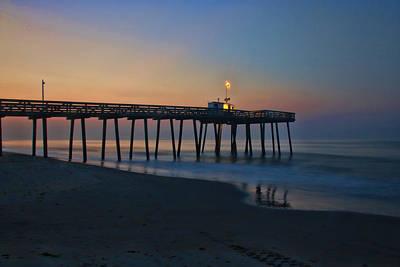 Photograph - Ocean City  N J Sunrise by Allen Beatty