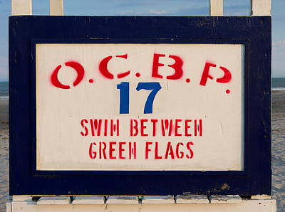 Photograph - Ocean City - Swim Between Green Flags by Richard Reeve