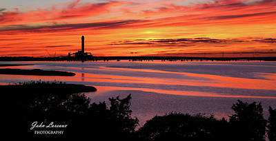 Photograph - Ocean City Welcome Center Sunset by John Loreaux