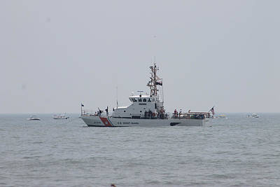 Photograph - Ocean City's Us Coast Guard On Patrol by Robert Banach