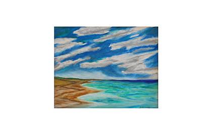 Painting - Ocean Clouds by Daniel Dubinsky