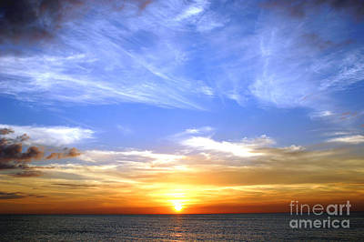 Photograph - Ocean Color Sunset by Digartz - Thom Williams