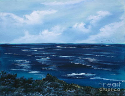 Painting - Ocean by Cynthia Adams