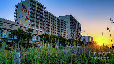 Ocean Drive Sunrise North Myrtle Beach Art Print