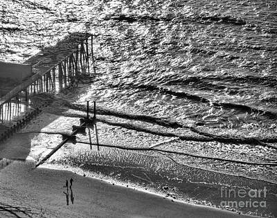 Photograph - Ocean East Coast Pier Atlantic Coast  by Chuck Kuhn