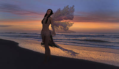 Nude Digital Art - Another Morning Without You by Betsy Knapp