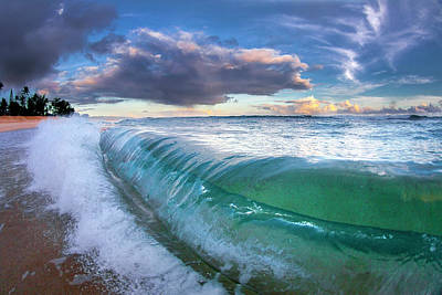 Ocean Fold Art Print by Sean Davey