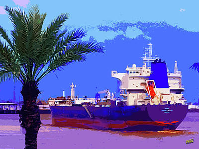 Painting - Ocean Freighter Leaving New Orleans by CHAZ Daugherty