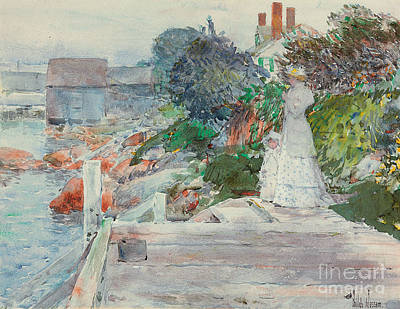 Frederick Painting - Ocean Front, Gloucester, Massachusetts by Childe Hassam