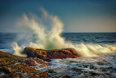 Photograph - Ocean Fury At Pemaquid Point by Rick Berk