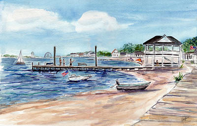 Painting - Ocean Gate Boardwalk by Clara Sue Beym