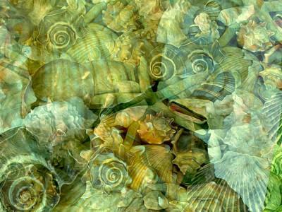 Digital Art - Ocean Gems Underwater by Lynda Lehmann