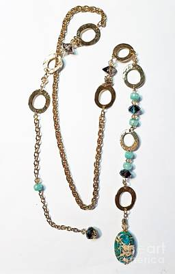 Jewelry - Ocean Green Lariat by Diana Bursztein