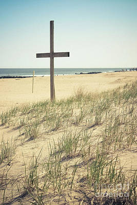 Photograph - Ocean Grove Dune Cross by Colleen Kammerer