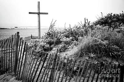 Photograph - Ocean Grove Dune Cross by John Rizzuto