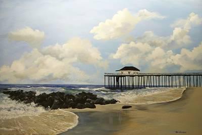 Ocean Grove Fishing Pier Art Print by Ken Ahlering