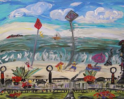 Ocean Grove Art Print by Mary Carol Williams