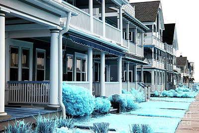 Ocean Grove Shore Houses Print by John Rizzuto