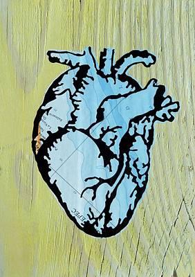 Mementos Mixed Media - Ocean Heart by Desiree Warren