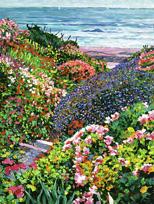 Garden Scene Painting - Ocean Impressions by David Lloyd Glover
