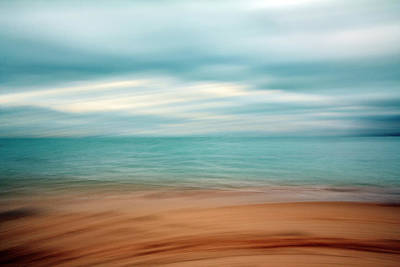Abstract Beach Landscape Photograph - Ocean Impressions by Ines Leonardo