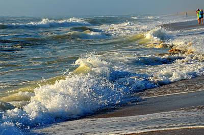 Undertow Photograph - Ocean In August by Dianne Cowen