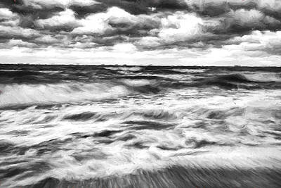White Clouds Digital Art - Ocean In Flux II by Jon Glaser