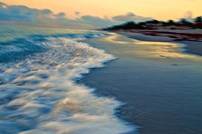 Ocean In Motion Art Print by Dennis Baswell