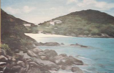 Painting - Ocean Inlet Landscape by Suzn Art Memorial