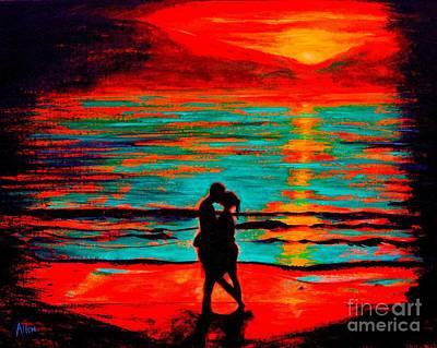 Painting - Ocean Kiss by Leslie Allen