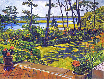Ocean Lagoon Garden Original by David Lloyd Glover