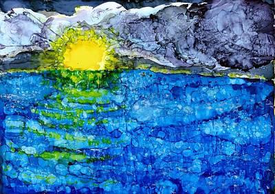 Joy Dorr Painting - Ocean Light by Joy Dorr