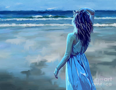 Painting - Ocean Longing by Tim Gilliland