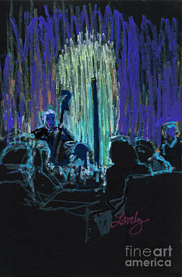 Painting - Ocean Lounge Jazz Night by Candace Lovely