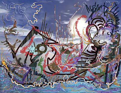Ocean Print by Marko Mitic