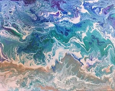 Painting - Ocean Meets Shore 3 by Deborah Younglao