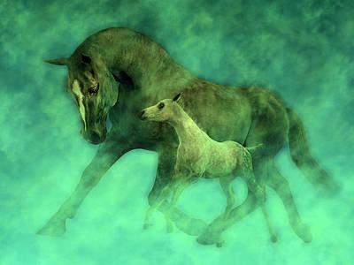 Animals Digital Art - Ocean Mist Morning by Betsy Knapp