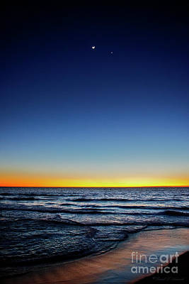 Photograph - Ocean, Moon And Planet by David Arment