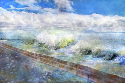 Time Digital Art - When Waves Tumble by Betsy Knapp